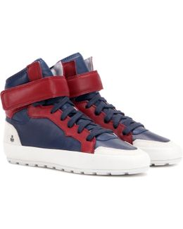 Toile Bessy Leather Sneakers