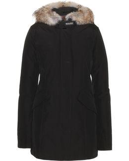 Arctic Parker Coat With Fur Trim