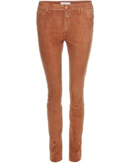 Lizzy Suede Skinny Trousers