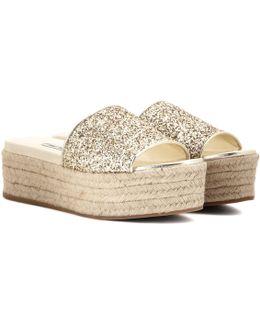 Glittered Platform Sandals