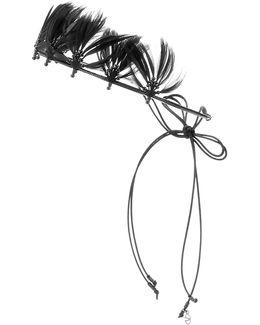 Garavani Feather-embellished Headband