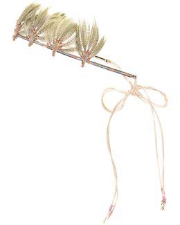 Garavani Feather-embellished Beaded Headband