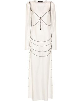 Goseli Silk Dress With Body Chain