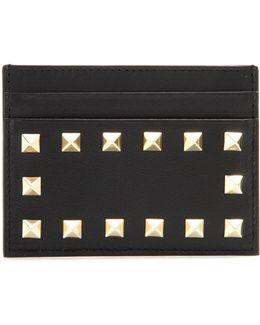 Garavani Rockstud Leather Card Holder