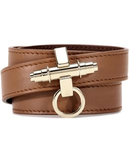 3 Row Obsedia Leather Bracelet