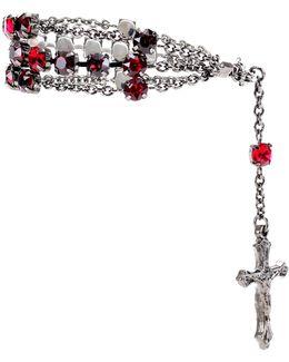 Rosario Crystal Embellished Bracelet