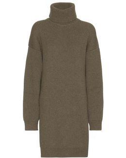 Wool-blend Turtleneck Sweater Dress