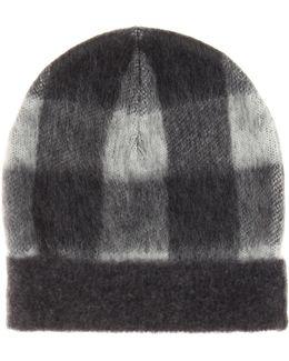Plaid Wool-blend Hat