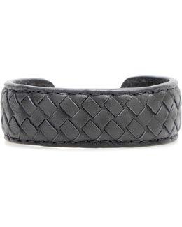 Intrecciato Leather Cuff