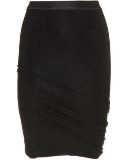 Draped Jersey Miniskirt