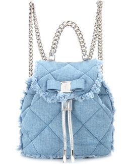 Giuliette Quilted Denim Backpack