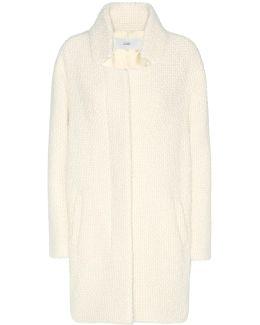 Bubble Pori Cotton And Virgin Wool-blend Coat