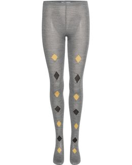 Printed Knitted Wool Tights