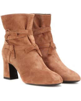 Prismick Knot Suede Ankle Boots