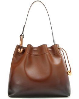 Medium Hook Gradient Leather Shoulder Bag