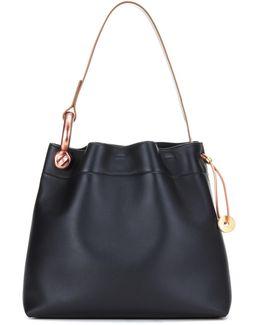 Medium Hook Leather Shoulder Bag