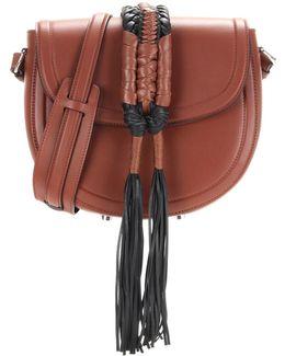 Ghianda Saddle Knot Leather Shoulder Bag