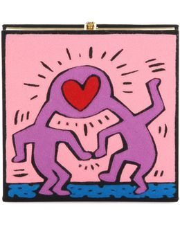 X Keith Karing Love Book Clutch