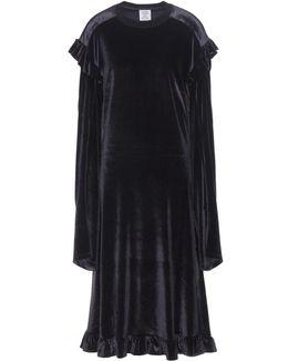 Ruffled Velvet Dress