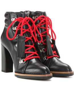 Lace-up Ankle Boots In Leather