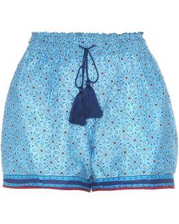 Printed Cotton And Silk Shorts