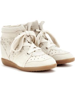 Toile Bobby Suede Wedge Sneakers