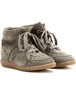 Toile Bobby Concealed Wedge Suede Sneakers