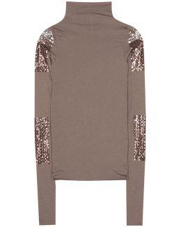 Embellished Turtleneck Sweater