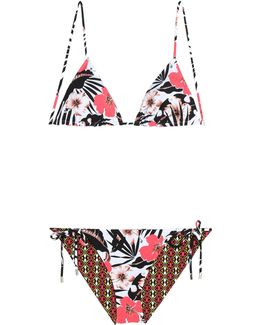 Printed Reversible Triangle Bikini
