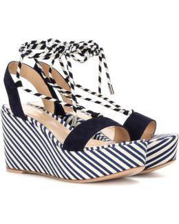 Antibes Mid Suede Wedge Sandals