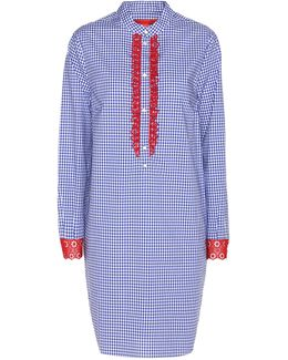 Checked Cotton Shirt Dress