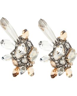 Clip-on Earrings With Glass Crystals