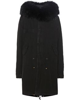 Xquili Cotton Parka With Fur-trimmed Hood
