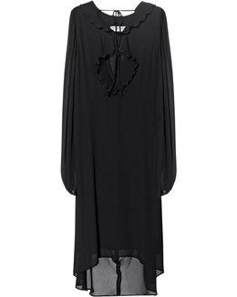 Swing Collar Frill Dress