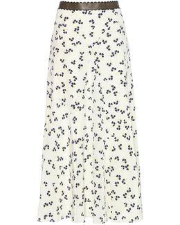 Moraya Printed Silk Midi Skirt