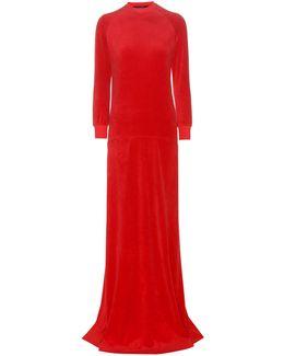 X Juicy Couture Velour Maxi Dress