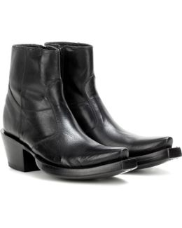 X Lucchese Bootmaker Leather Ankle Boots