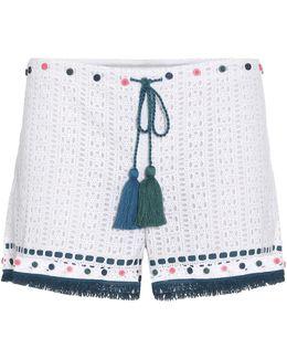 Eyelet Cotton Shorts