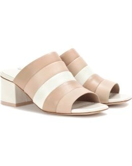 Ellenha Striped Leather Sandals