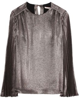 Metallic Silk-blend Top