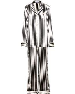 Lila Nika Striped Silk Pyjama Set - Size 4
