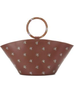 Patterned Leather Tote Bag
