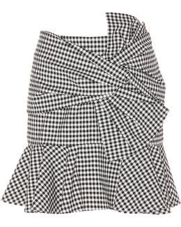 Picnic Bow Plaid Cotton Skirt