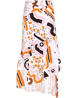 Party Printed Cotton Skirt
