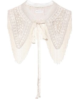 Embellished Cotton Bib Collar