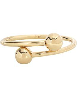 Double Ball Bangle Bracelet