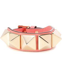 Garavani Rockstud Leather Bracelet