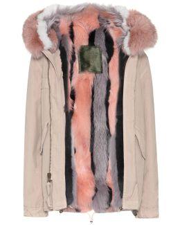 Fur-lined Cotton Coat