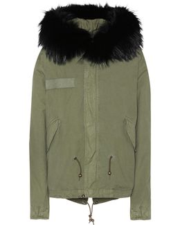 Cotton Parka With Fur Finish