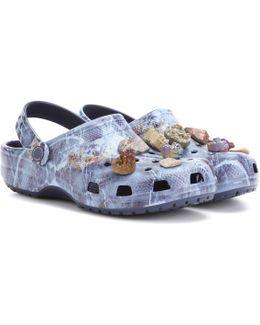 Embellished Printed Crocs